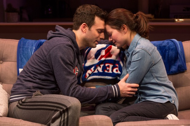 10-Jake Epstein and Jenna Gavigan in STRAIGHT, Photo by Matthew Murphy