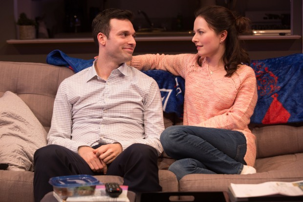2-Jake Epstein and Jenna Gavigan in STRAIGHT, Photo by Matthew Murphy